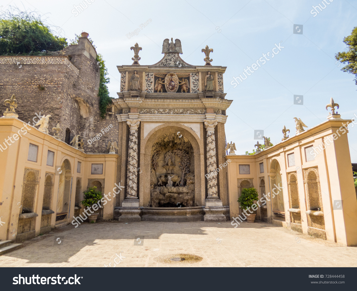 TIVOLI ITALY AUGUST 31 2017 Fountain Stock Photo (Edit Now ...