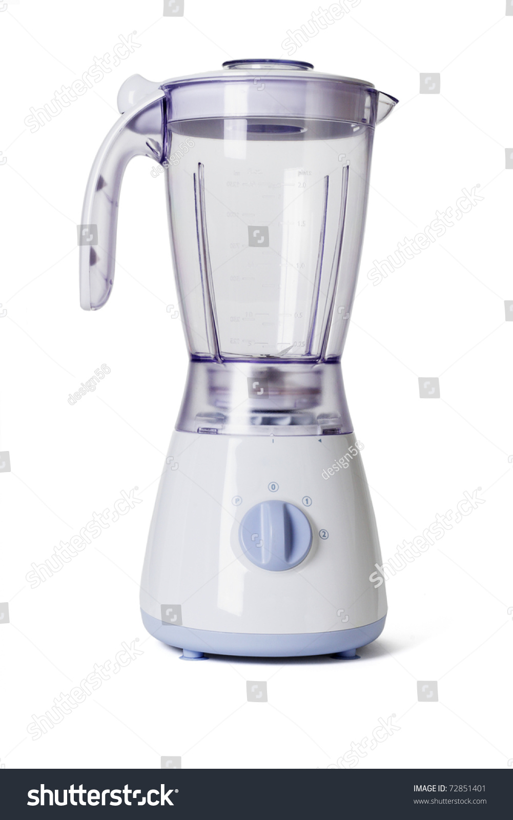 Empty Juice Blender ~ Empty electric blender on white background stock photo