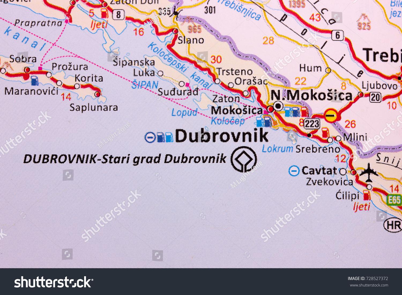 Map dubrovnik croatia stock photo 728527372 shutterstock map of dubrovnik croatia gumiabroncs Images