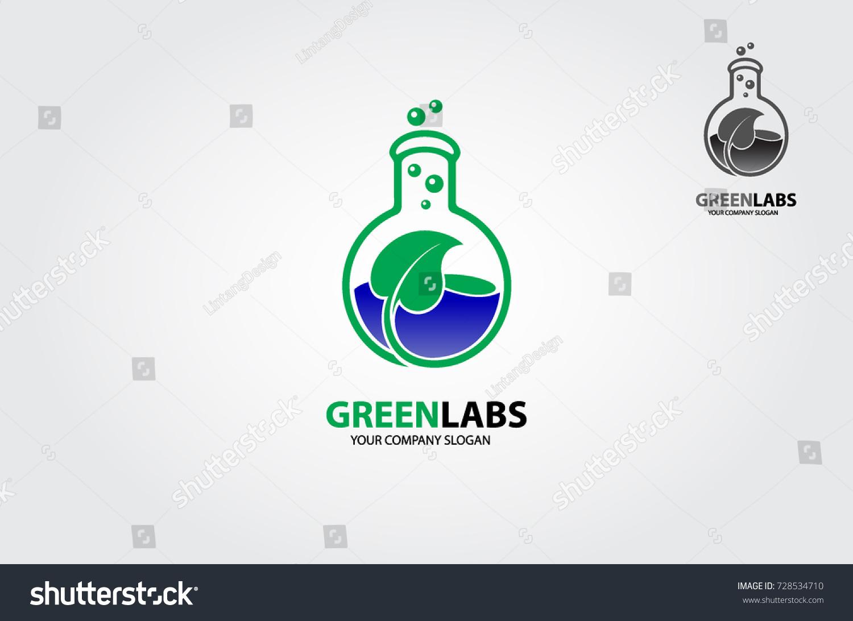 Green Lab Logo Creative Logo Template Stock Vector Royalty Free