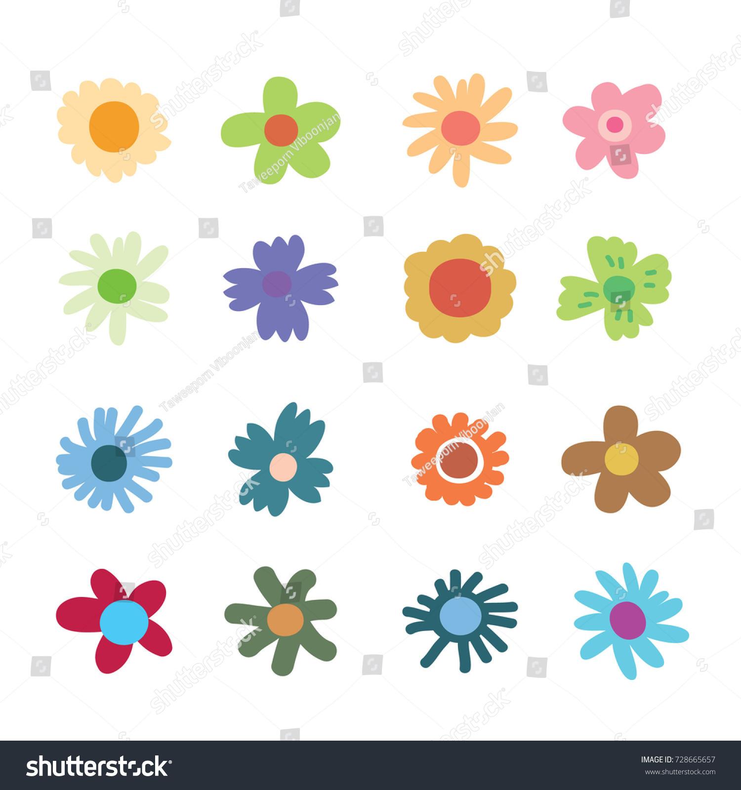 Image Vectorielle De Stock De Fleurs De Gribouillis Fleur