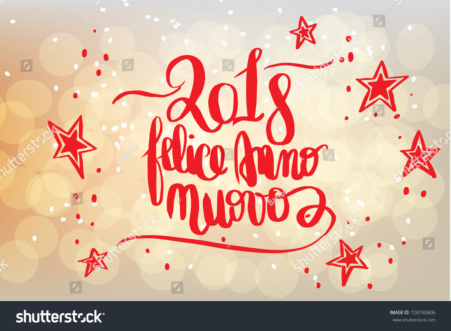 Felice anno nuovo happy new year stock illustration 728740606 felice anno nuovo happy new year in italian greetings card handwritten on m4hsunfo