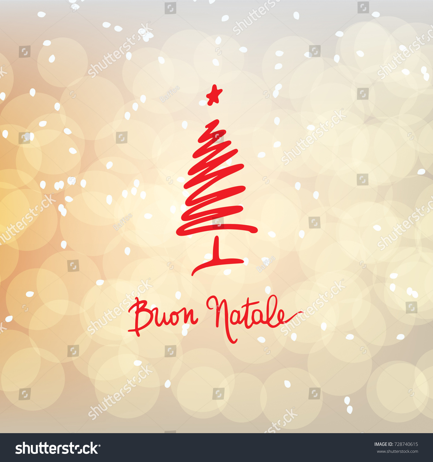 Royalty Free Stock Illustration of Buon Natale Merry Christmas ...