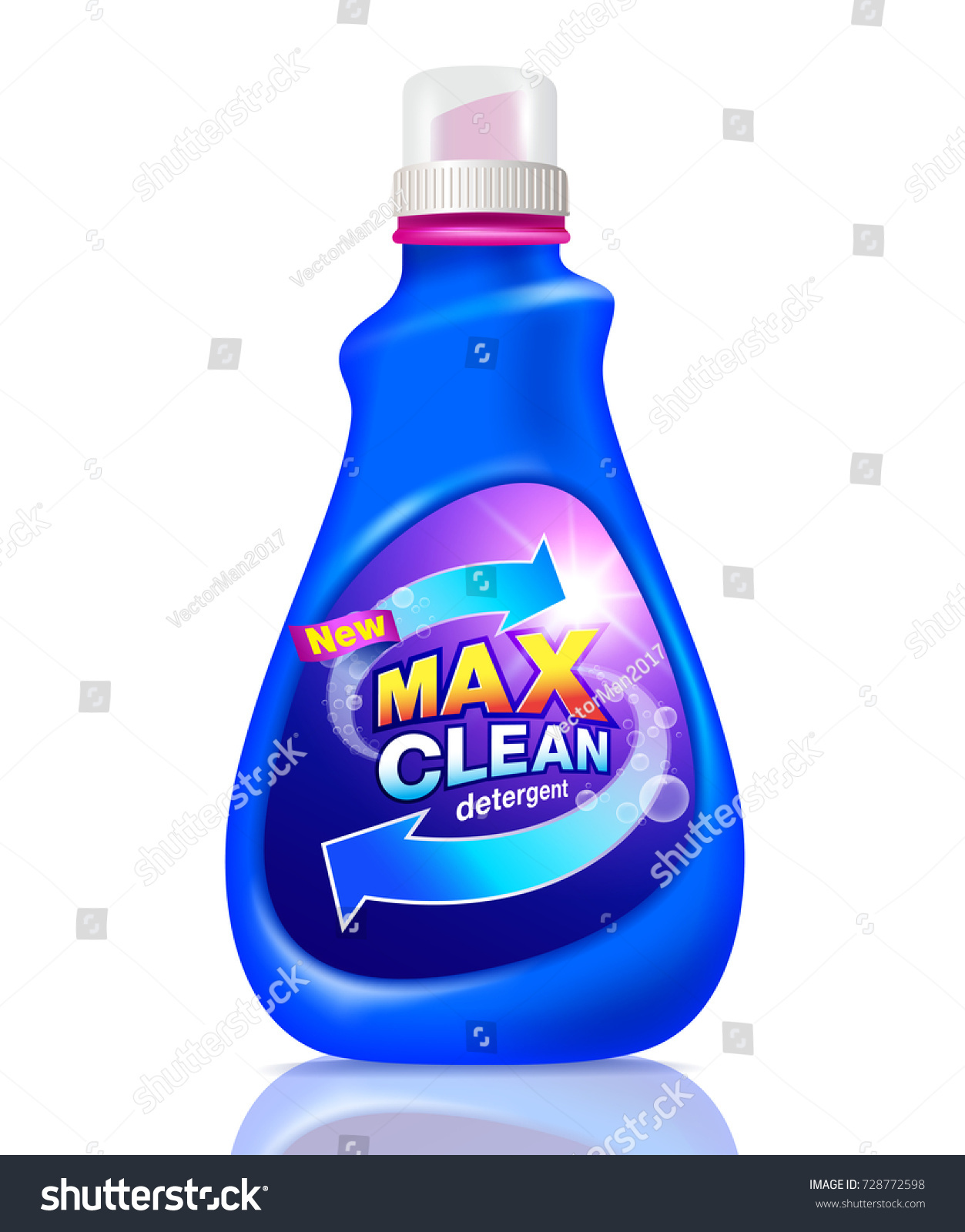 Detergent Cleaning Design Pack Detergent Product Stock Vector