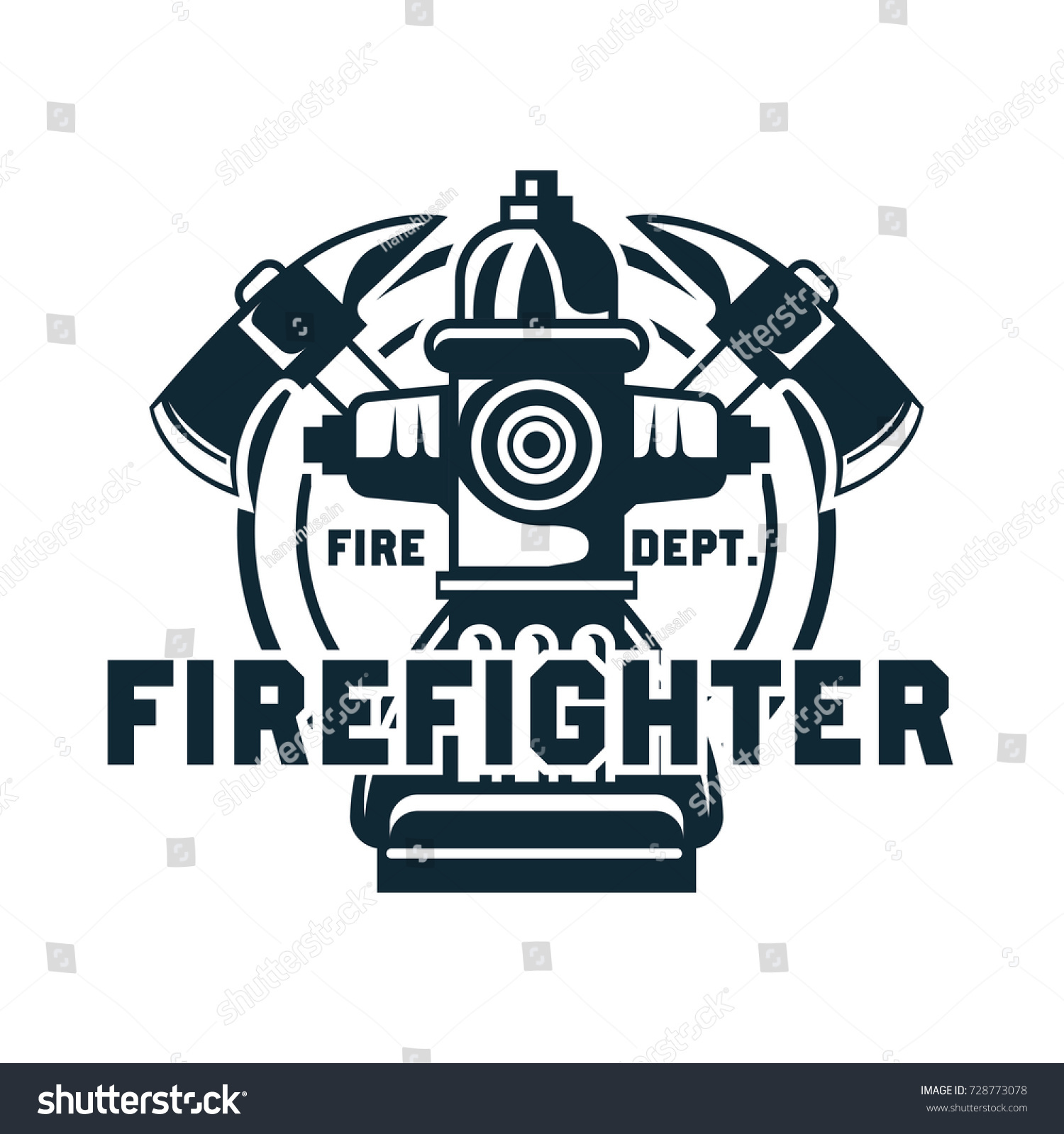 Firefighter logo emblems insignia text space stock vector firefighter logo emblems and insignia with text space for your slogan tagline vector buycottarizona Choice Image