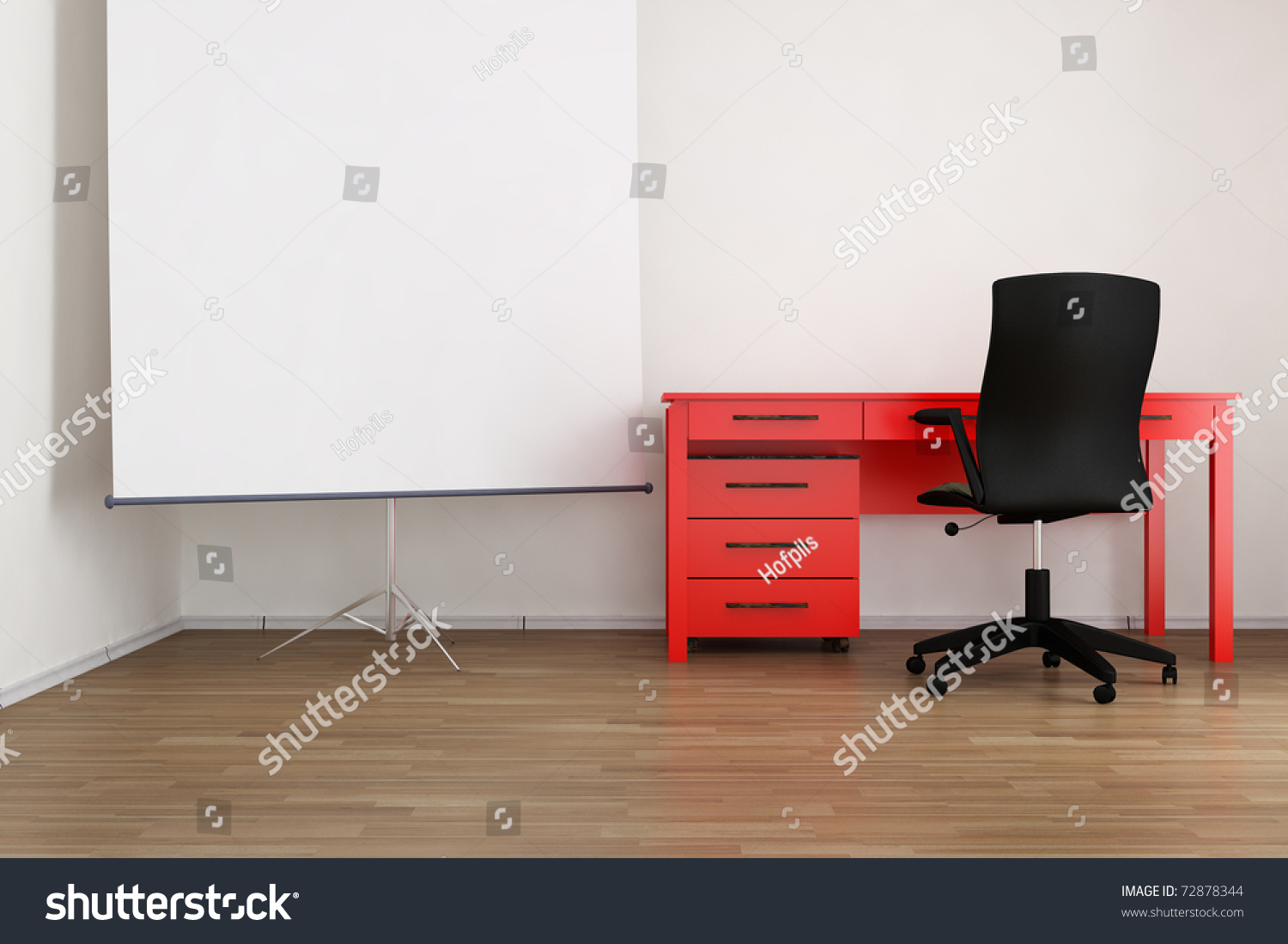 Living Room Setting Living Room Setting Office Table Chair Stock Photo 72878344