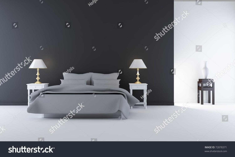 Living Room Setting   simple bedroom scene. Living Room Setting Simple Bedroom Scene Stock Illustration