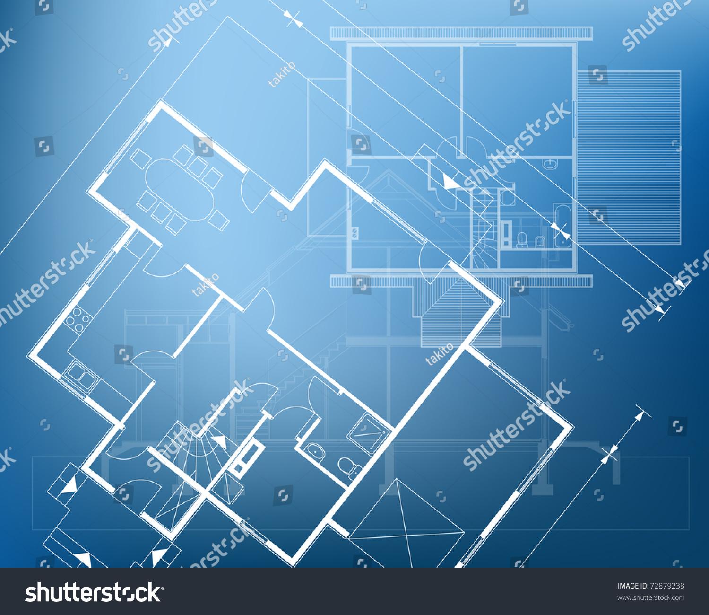 floor plan blueprint vector illustration stock vector 72879238