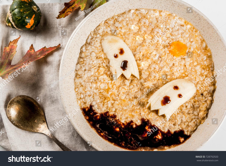halloween food recipes children kids breakfast stock photo (edit now