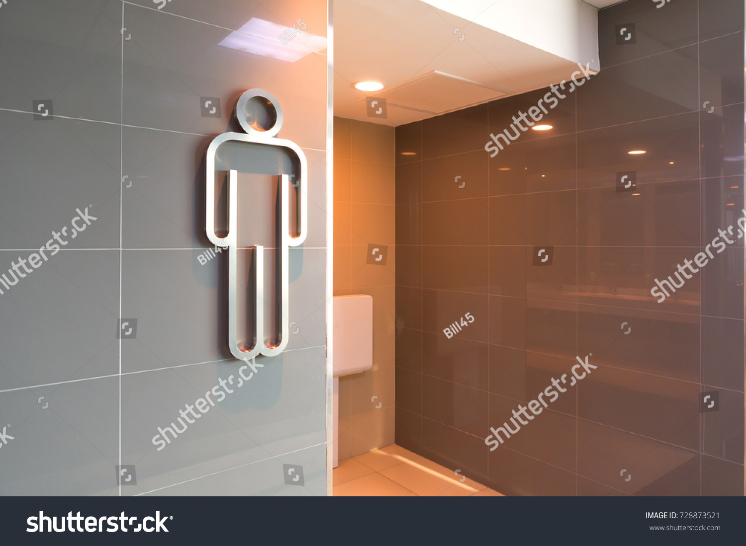 Modern Public Men Toilet Sign On Stock Photo (Edit Now) 728873521 ...