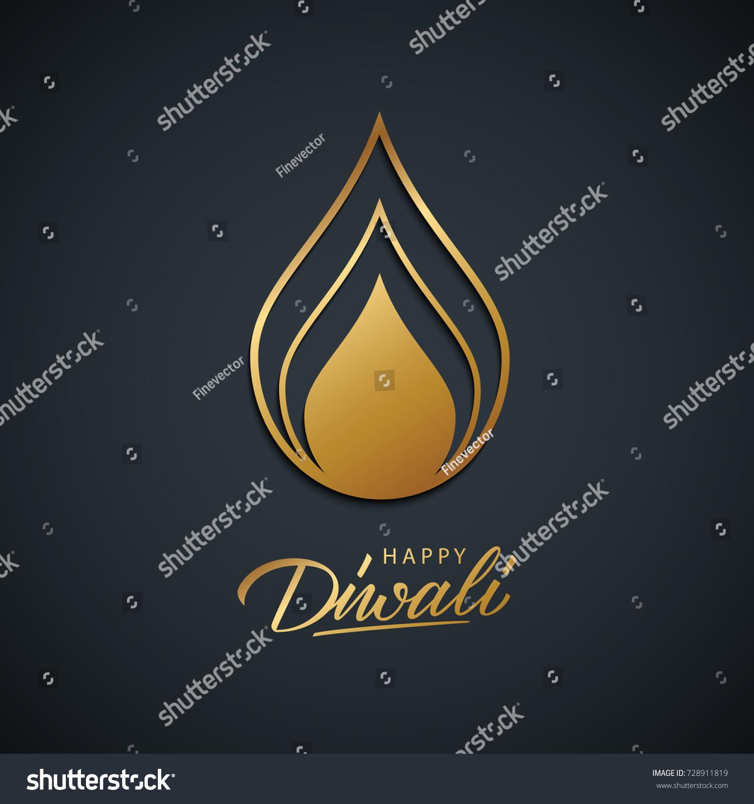 Happy Diwali Greeting Card India Festival Stock Vector Royalty Free