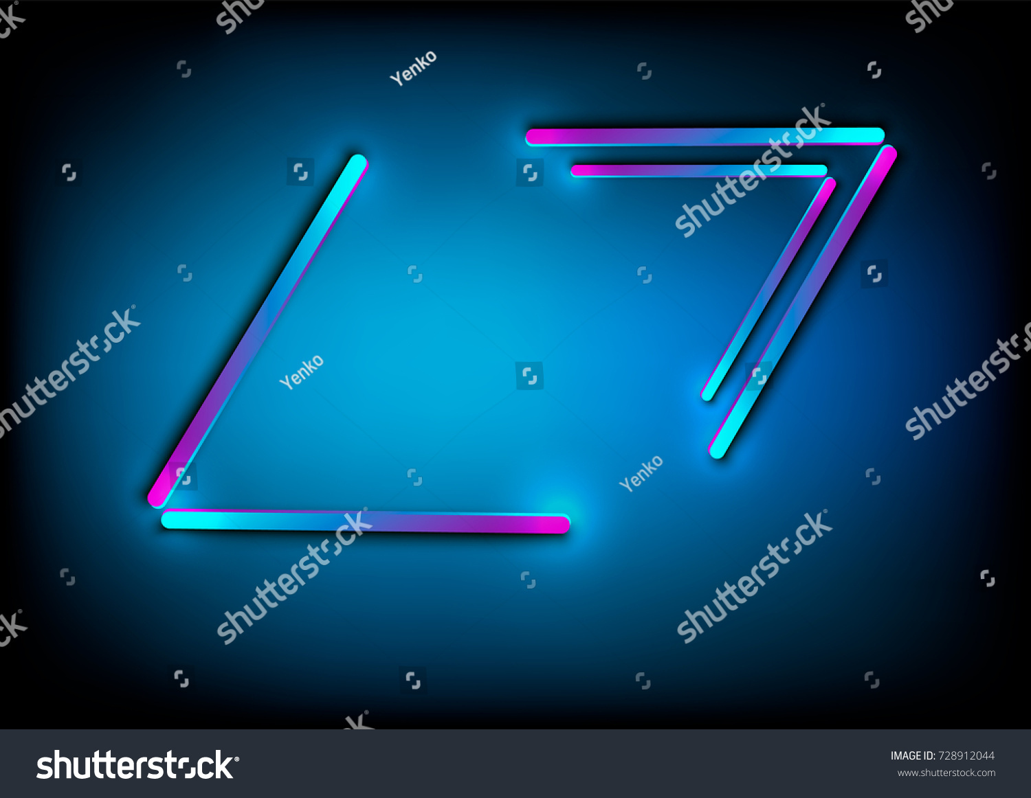 Neon abstract glowing frame vintage electric stock vector neon abstract glowing frame vintage electric symbol design element for your ad sign buycottarizona Choice Image