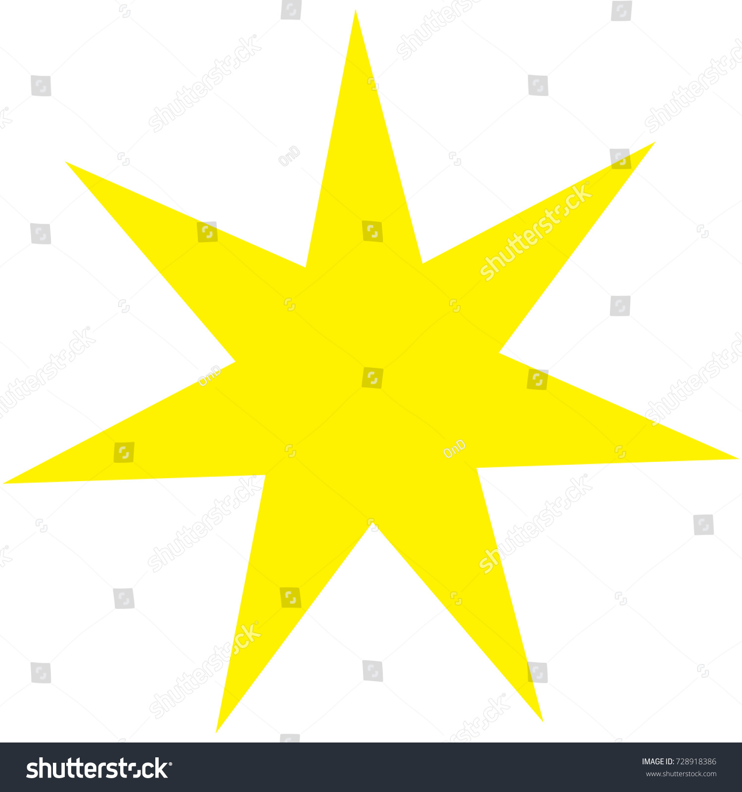 Sacred Geometric Symbol Seven Pointed Star Stock Vector 728918386 ...