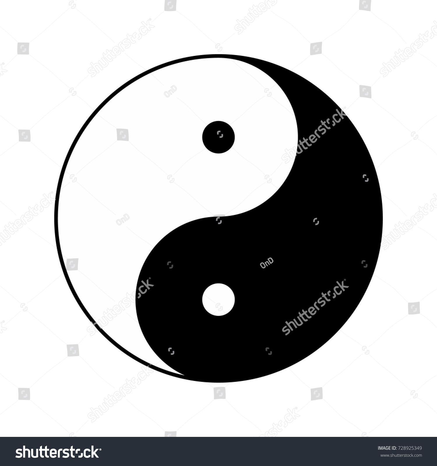 Yin yang religious symbol taoism vector stock vector 728925349 yin yang religious symbol of taoism vector illustration buycottarizona Images
