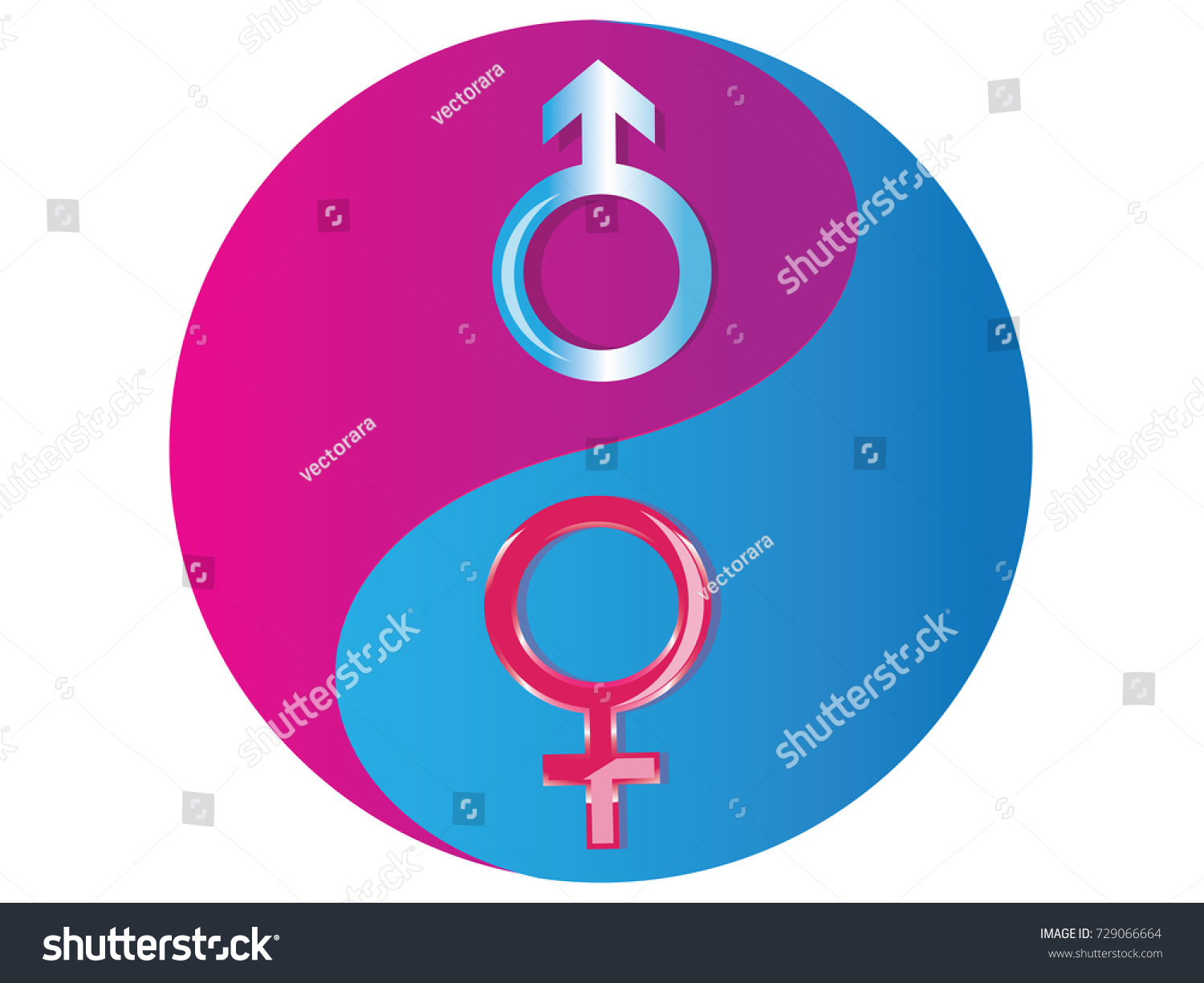 Female male yin yang symbolvector stock vector 729066664 female and male yin yang symbolctor biocorpaavc