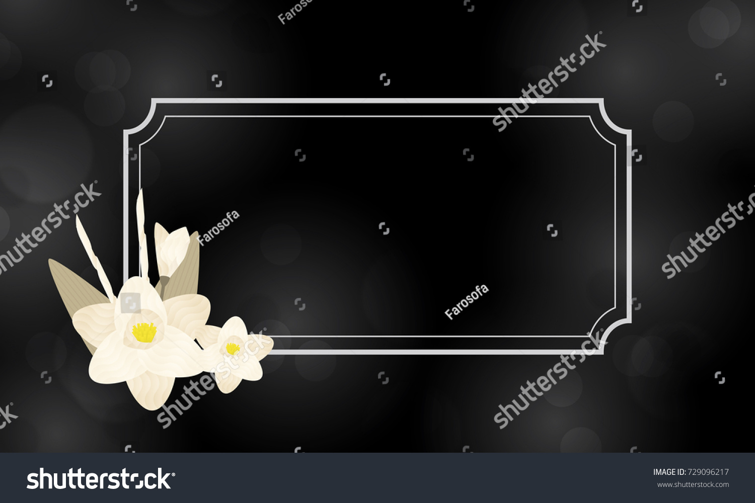 Dok Mai Chan Thai Artificial Funeral Stock Illustration 729096217