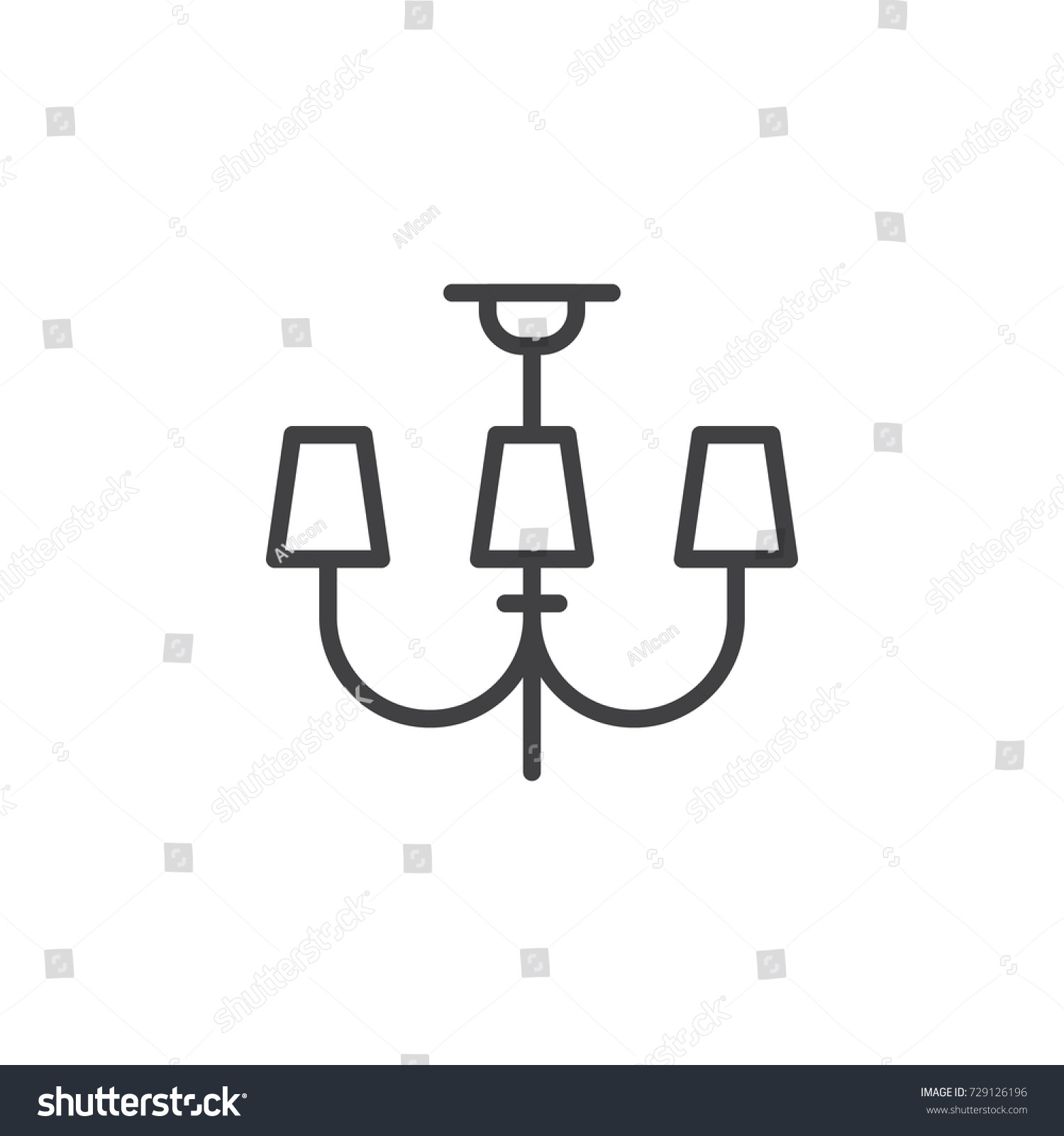 Chandeliers lights line icon outline vector stock photo photo chandeliers lights line icon outline vector sign linear style pictogram isolated on white arubaitofo Images