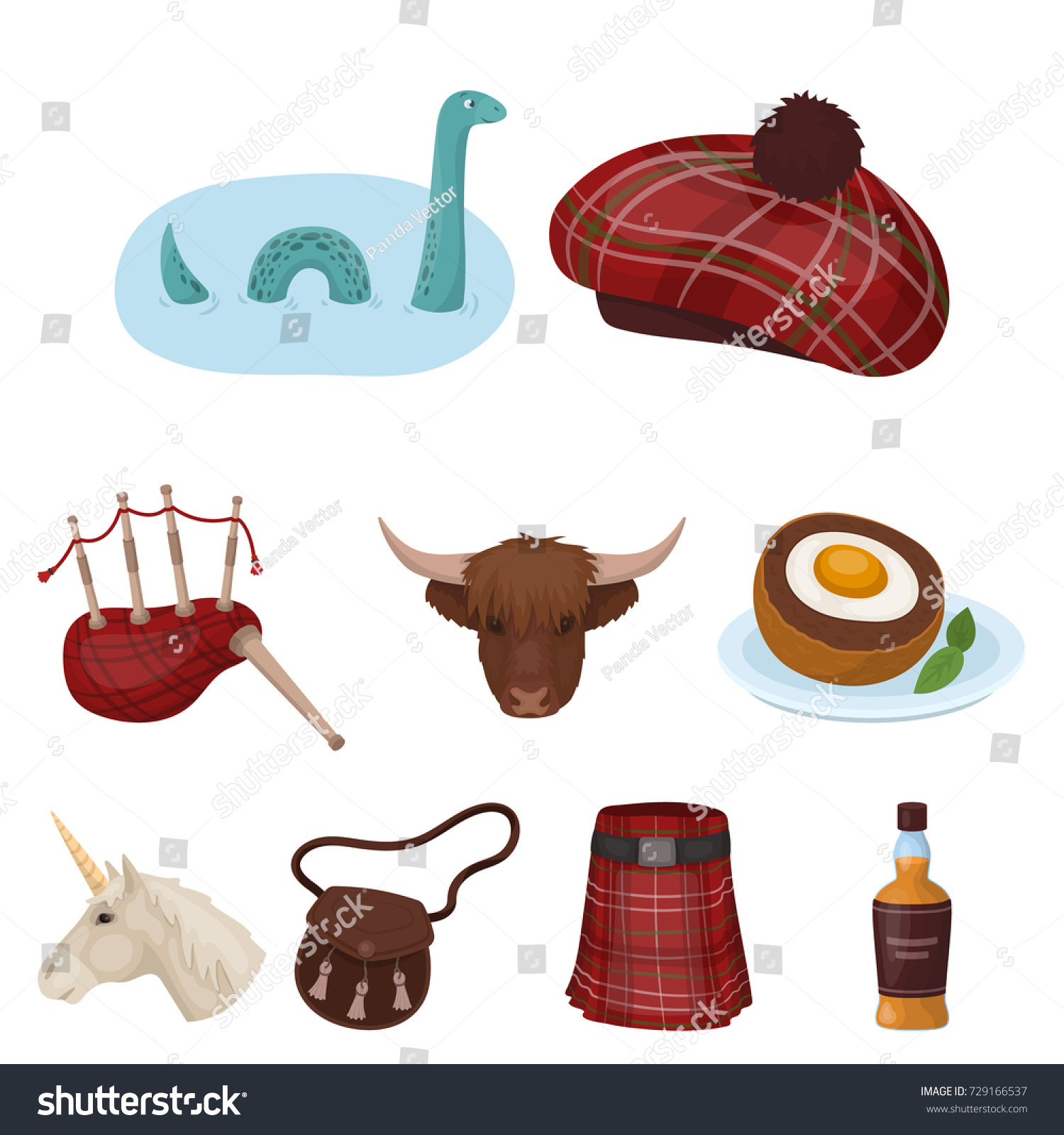 National Symbols Scotland Scottish Attractions Scotland Stock
