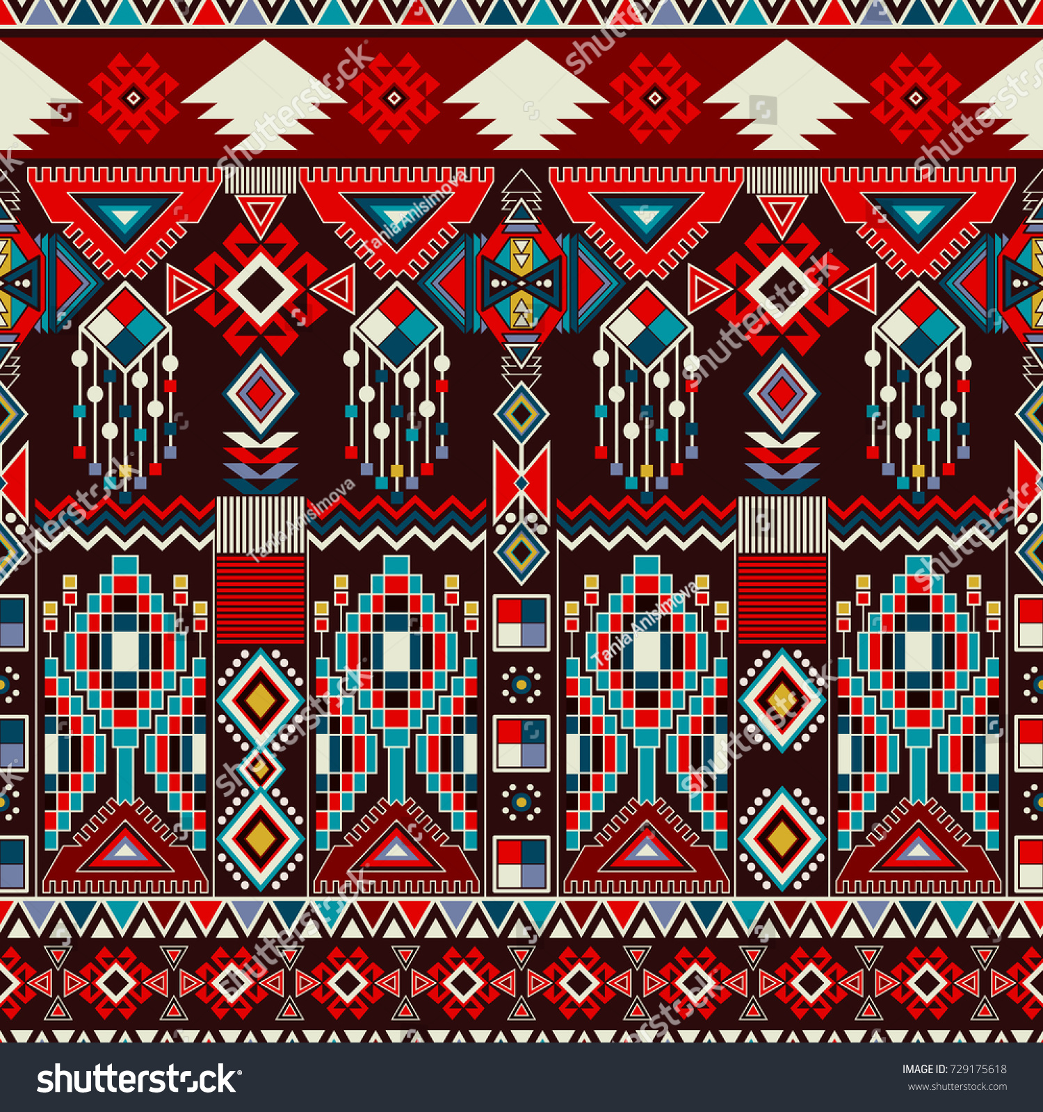 Native American Design Wallpaper : Geometric ornament ceramics wallpaper textile web stock