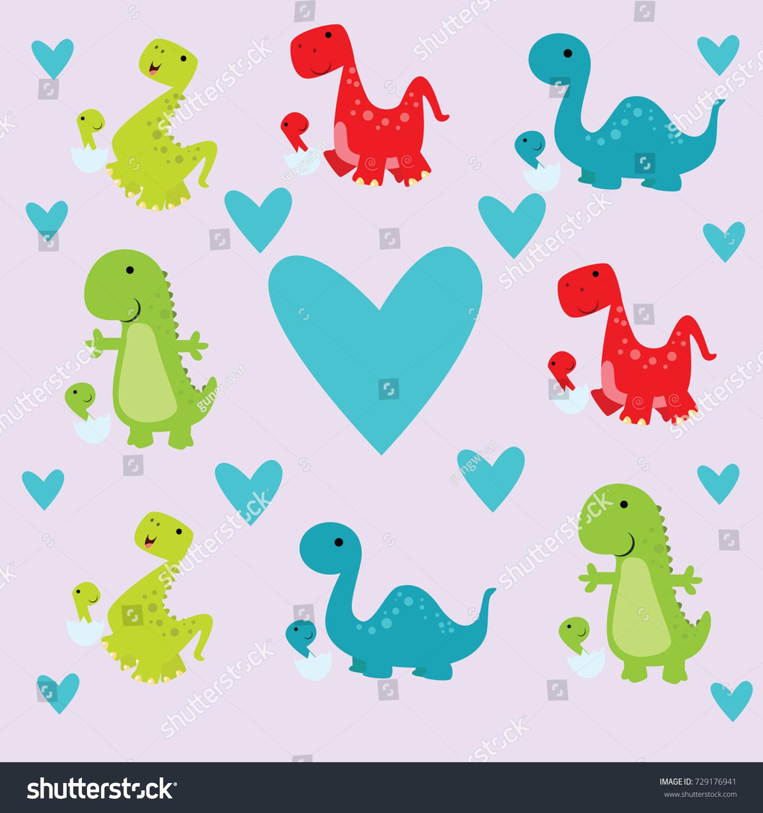 Dinosaur Wallpaper Design Cute Funny 729176941