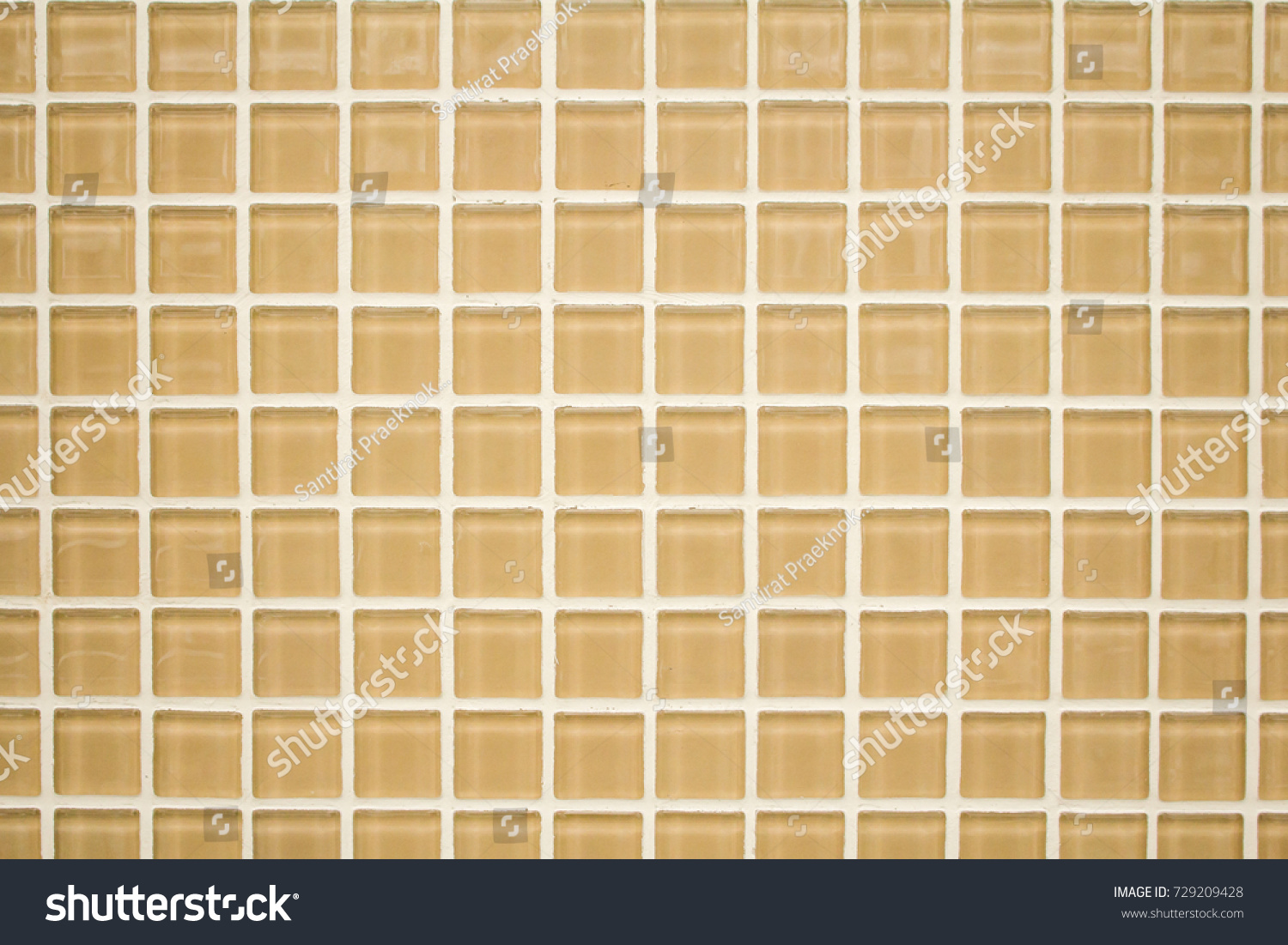 Yellow Cream Color Small Tiles Texture Stock Photo (Royalty Free ...