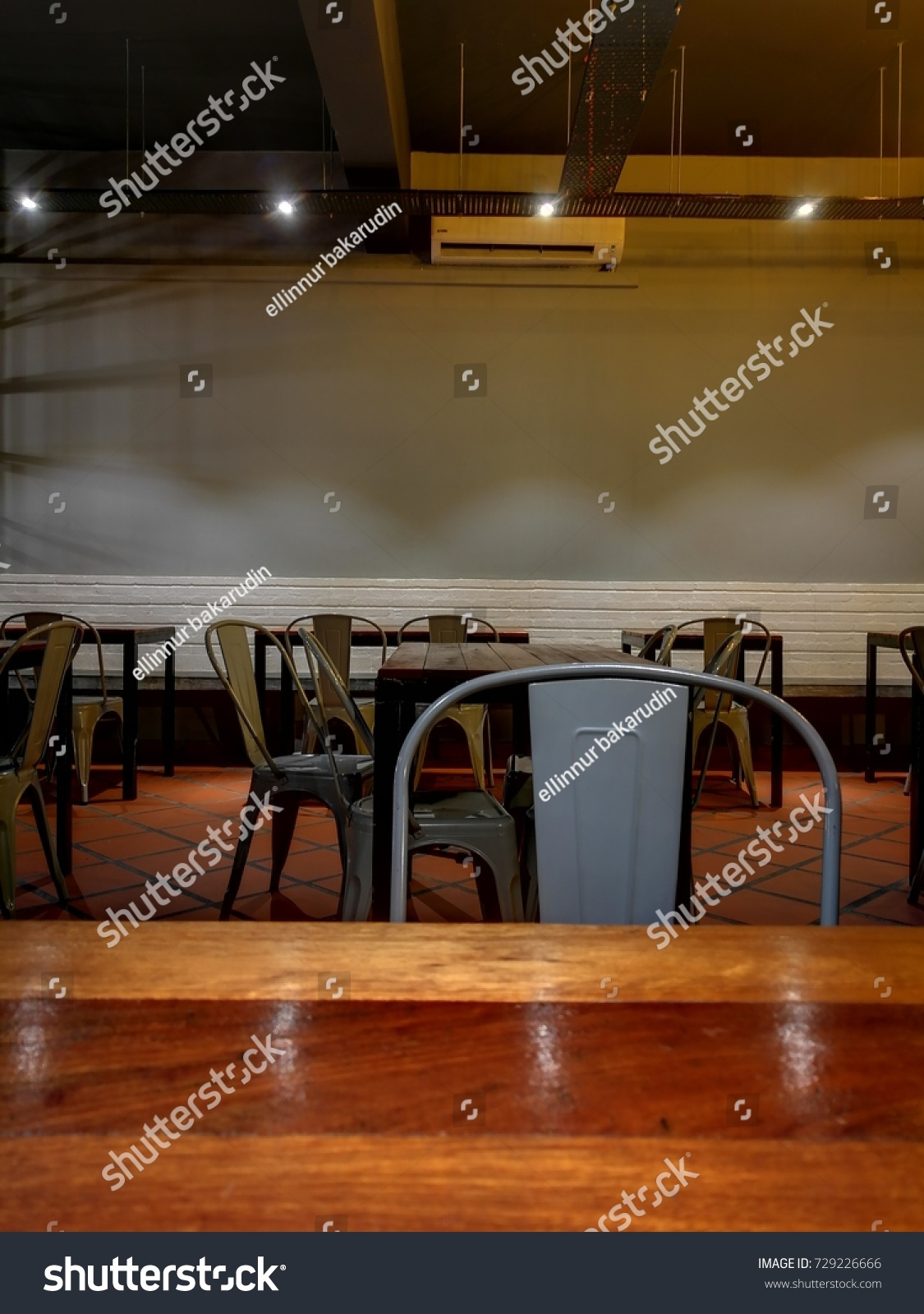 Bandar Baru Bangi, Malaysia   6 October 2017: Interior Decoration Of Red  Card Restaurant