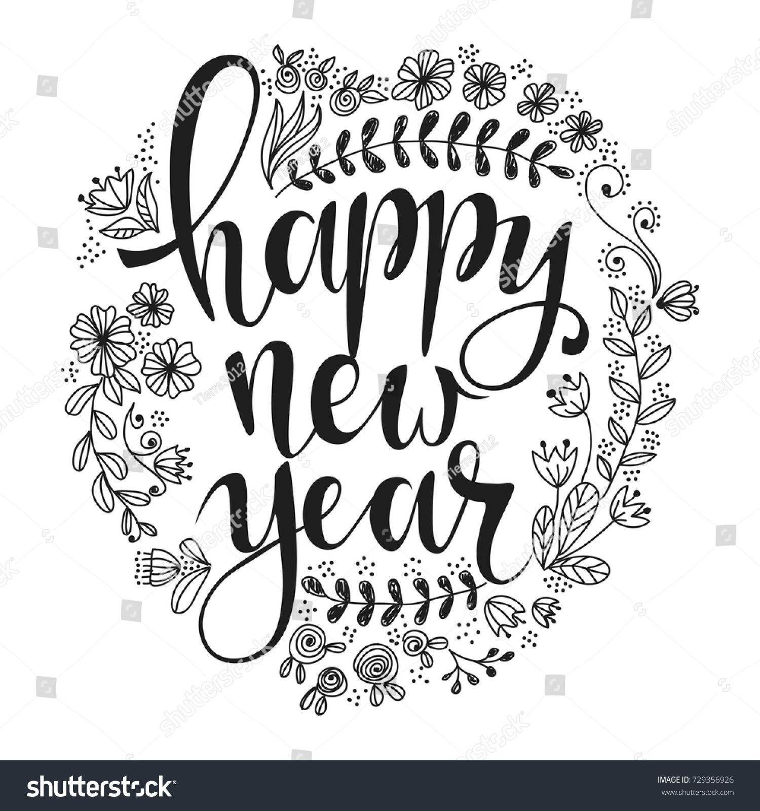 Happy New Year Lettering 13