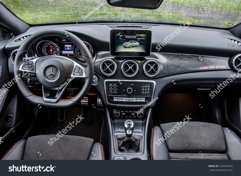 Praguethe Czech Republic 3182017 Interior Mercedes Stock Photo Edit Benz Of Cla 45
