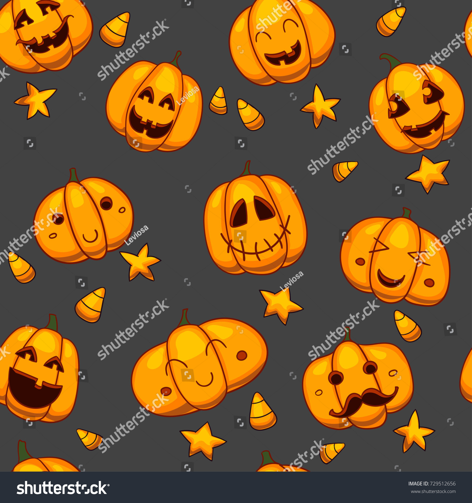 pattern with Halloween objects