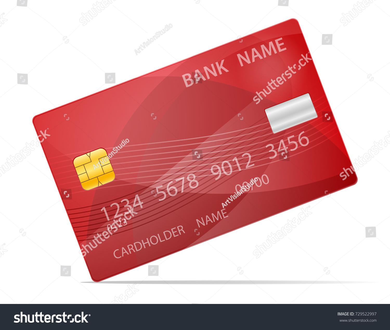 Bank Plastic Card Stock Vector Illustration Stock Vector 729522997 ...