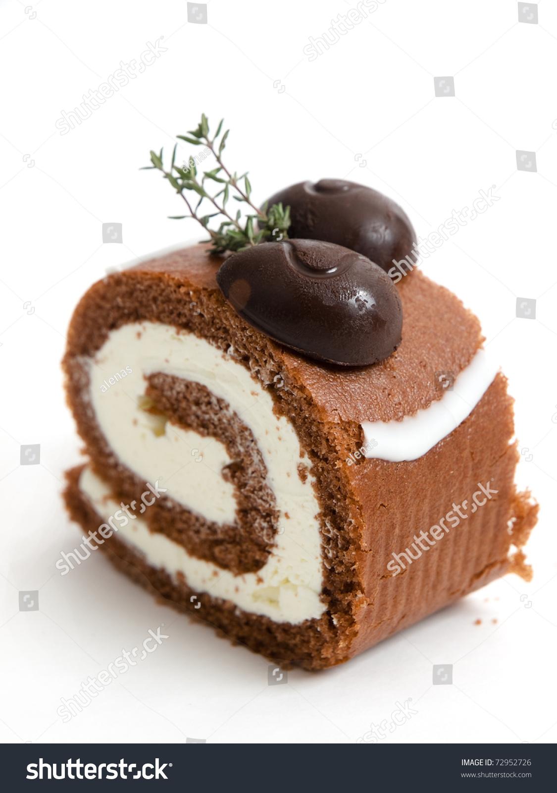 Sweet Chocolate Roll Cake Stock Photo 72952726 : Shutterstock