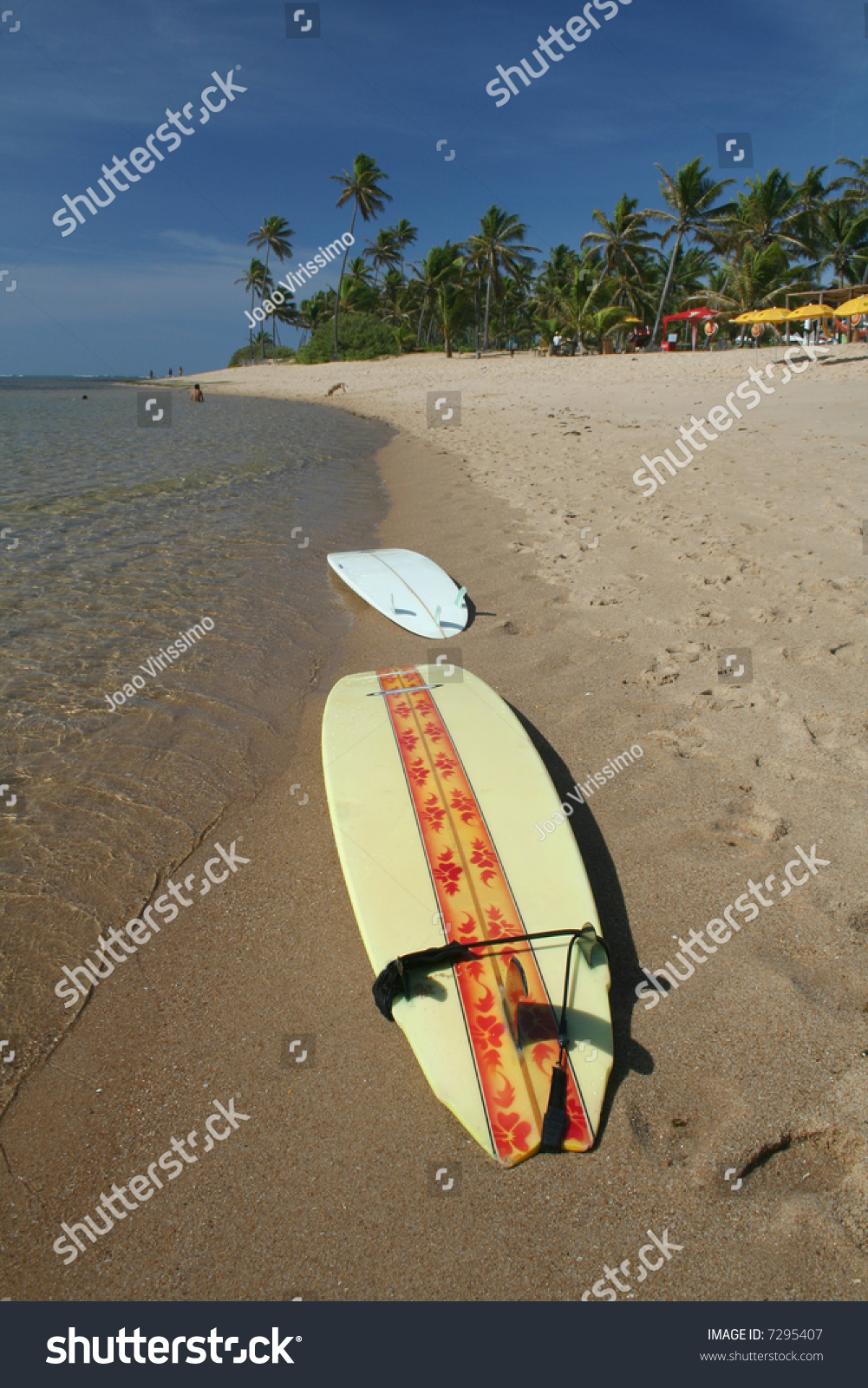Surfboards Laying On The Beach Stock Photo 7295407 ...