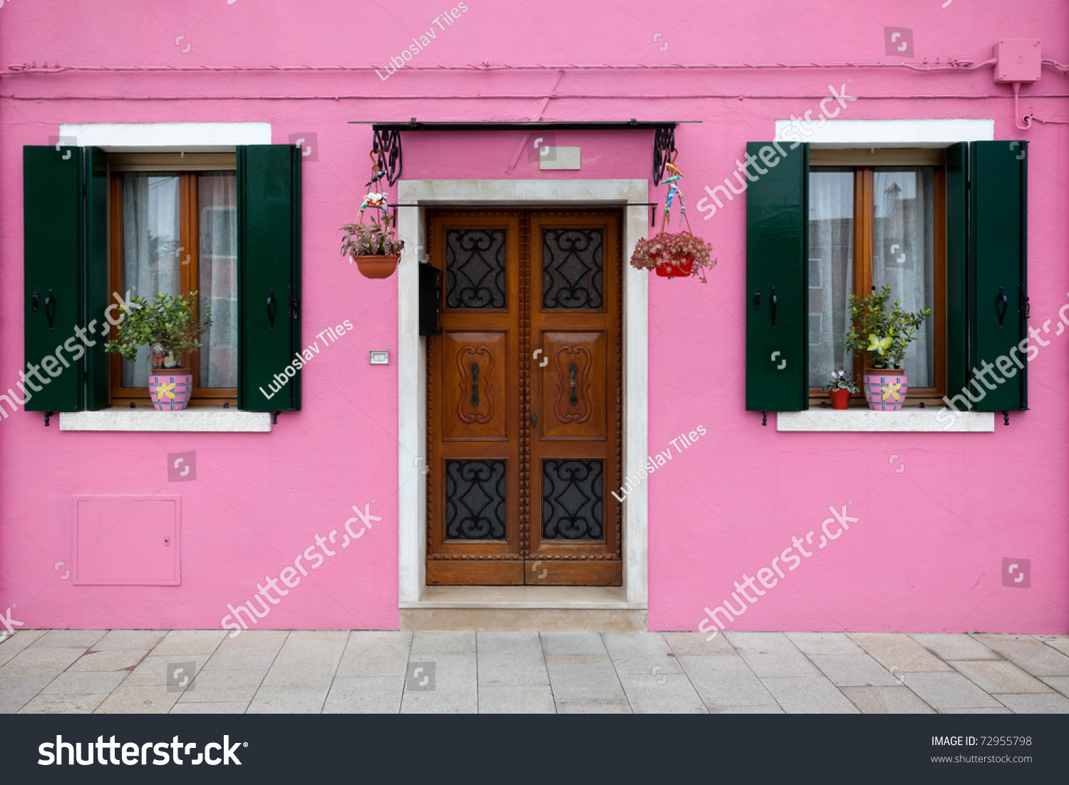 Burano Island Near Venice Italy House Stock Photo (Edit Now ...