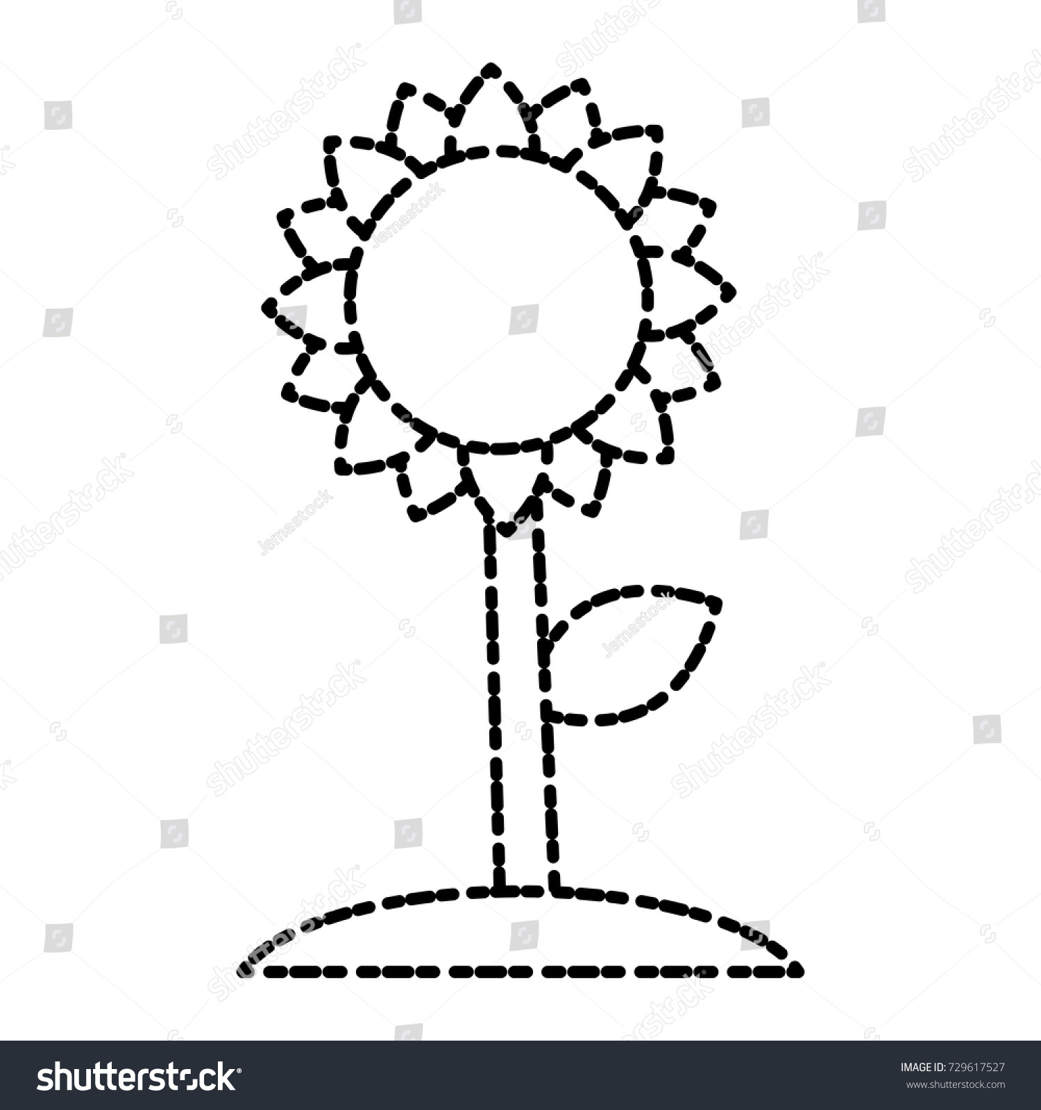Beautiful Sunflower Symbol Stock Vector Royalty Free 729617527