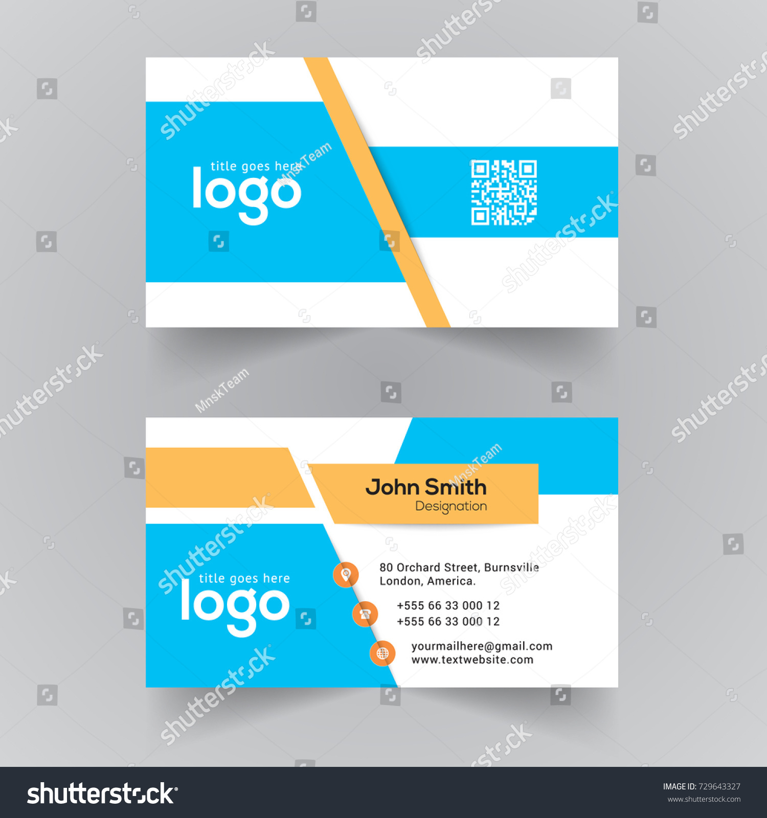 Creative vector visiting card template office stock vector creative vector visiting card template for office alramifo Gallery