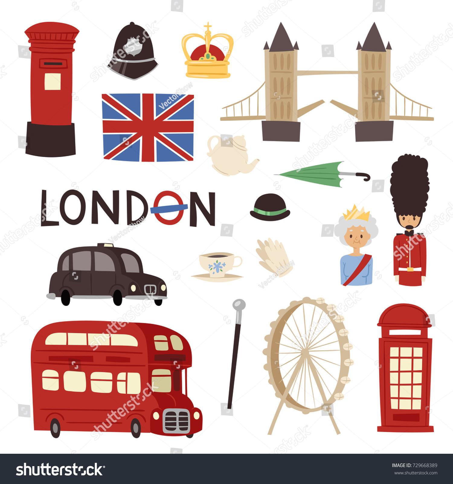 London Travel Icons English Set City Stock-Vektorgrafik (Lizenzfrei ...