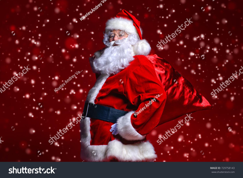Christmas Concept Portrait Fairytale Santa Claus Stock Photo (Edit ...
