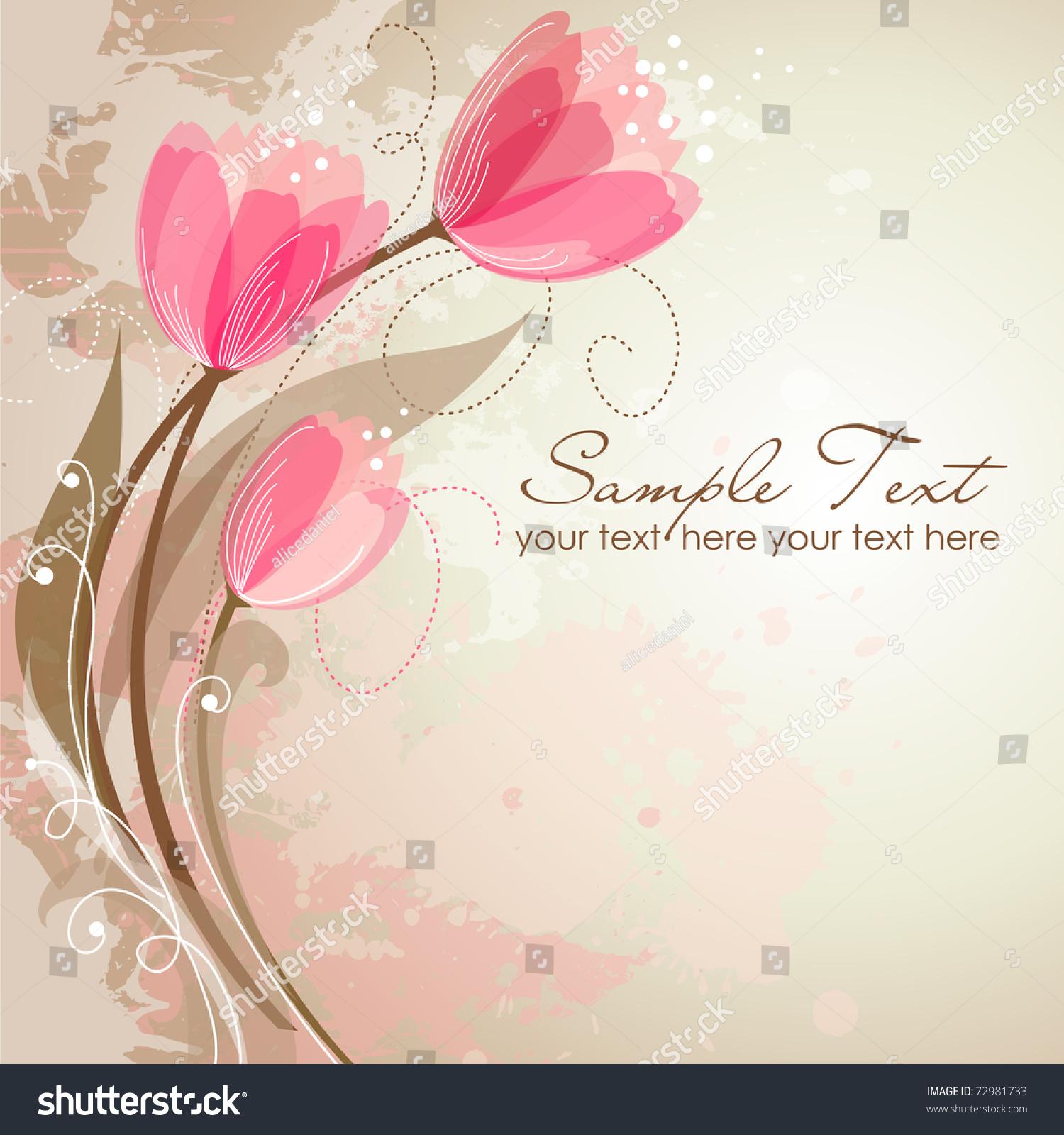 Romantic Flower Background Stock Vector 72981733