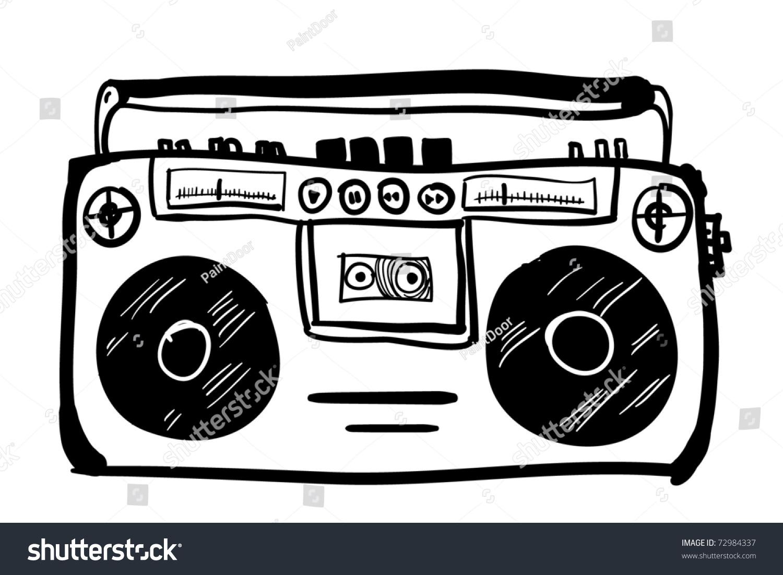 Retro Cassette Player Cartoon Stock Vector 72984337 ...