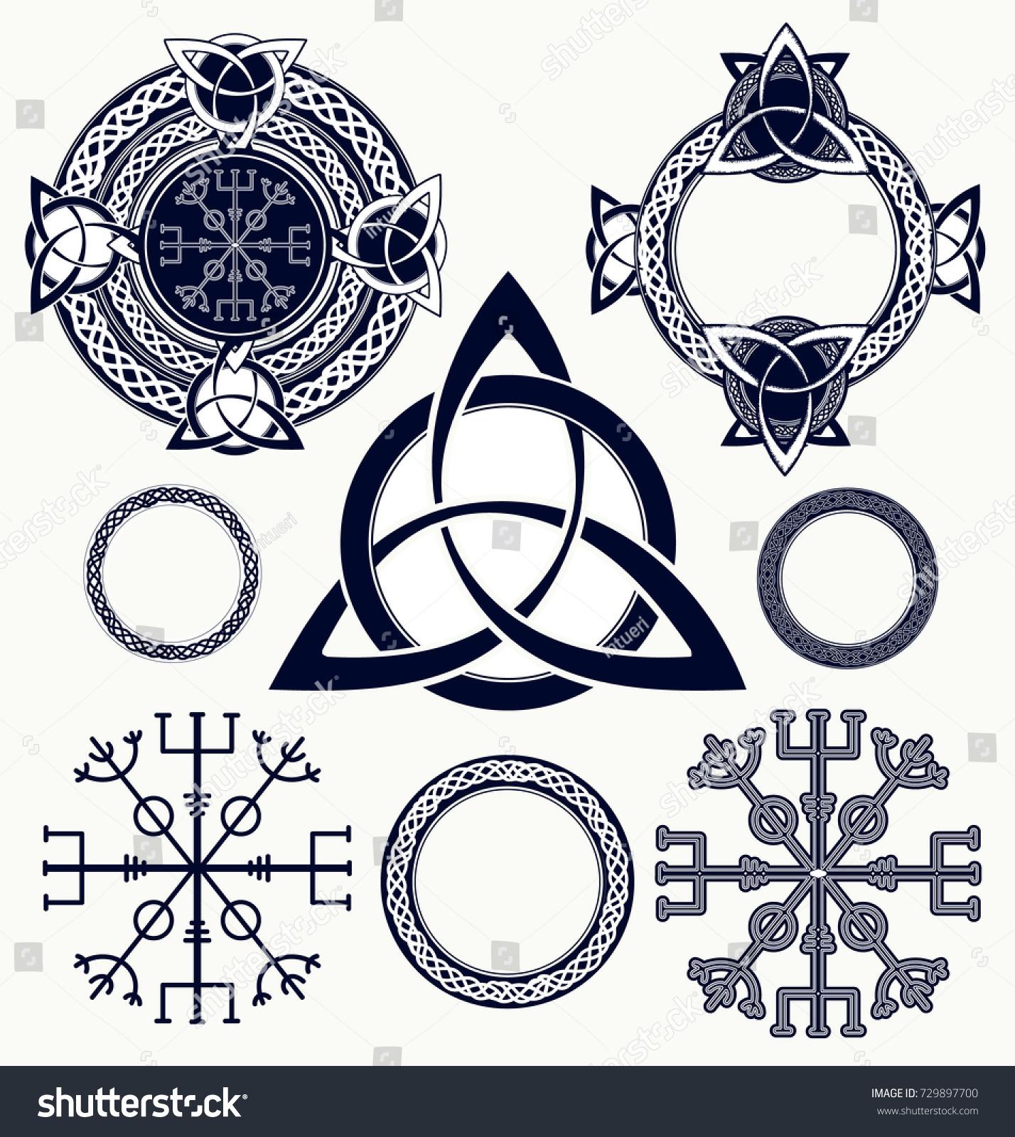 Celtic Elements Tattoo Tshirt Design Helm Stock Vector Royalty Free