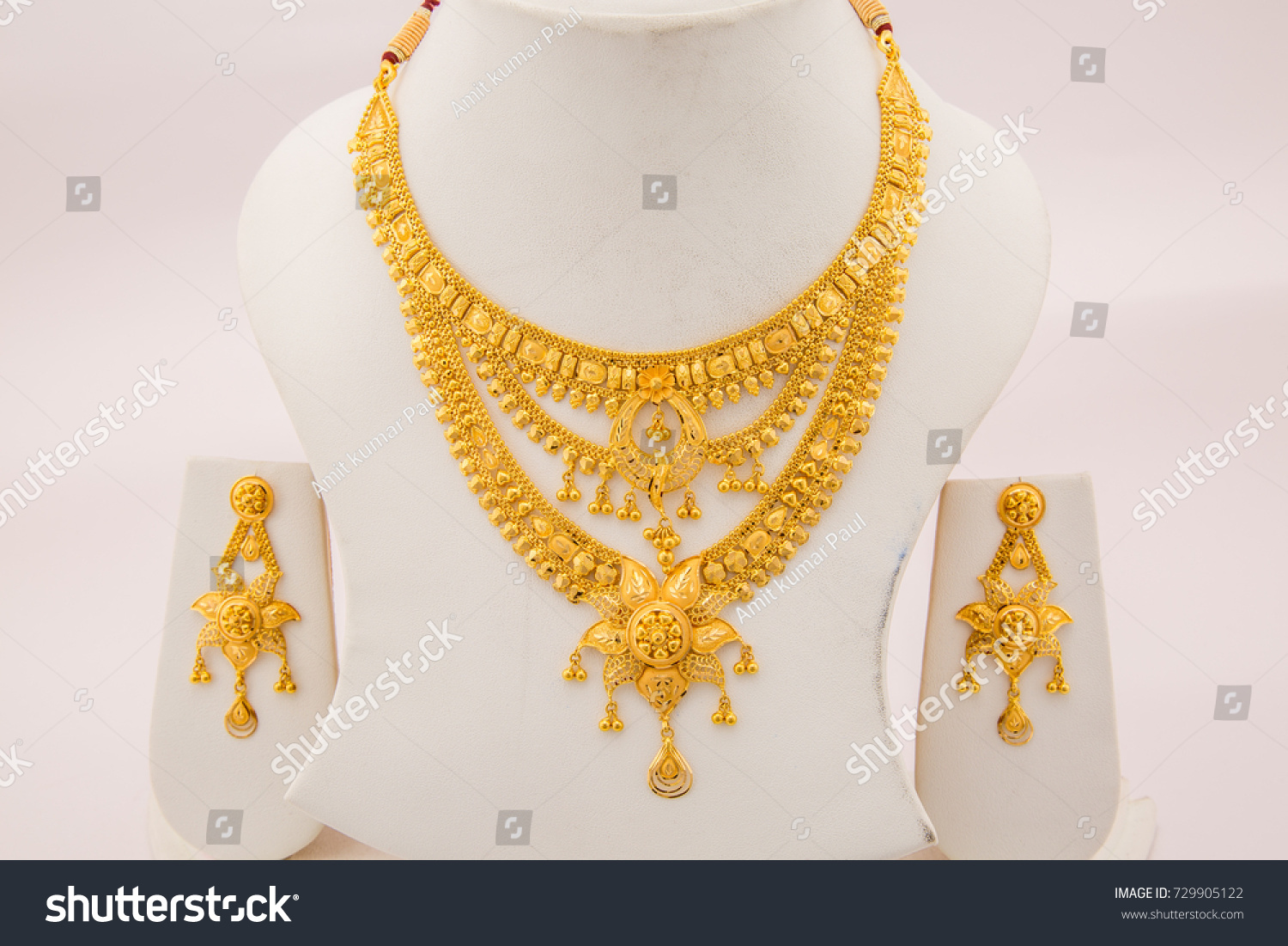 Bridal Collection Three Layer Beads Intricate Stock Photo ...