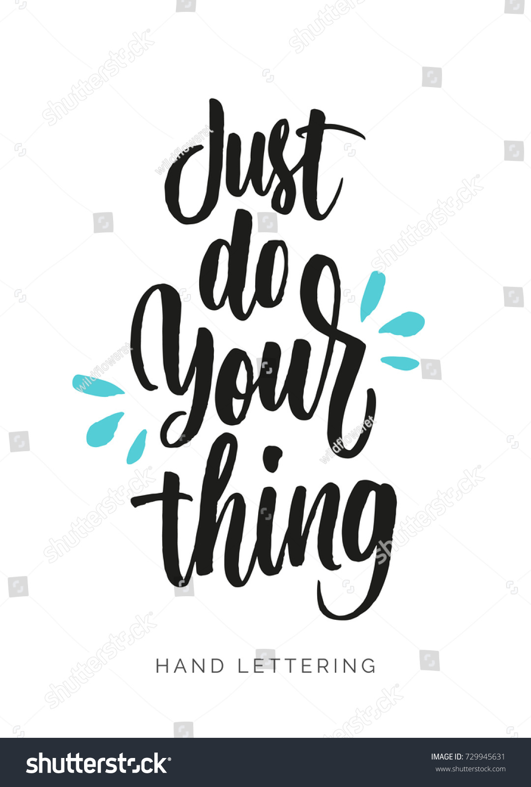 Just Do Your Thing Hand Drawn Stock Vector Royalty Free 729945631