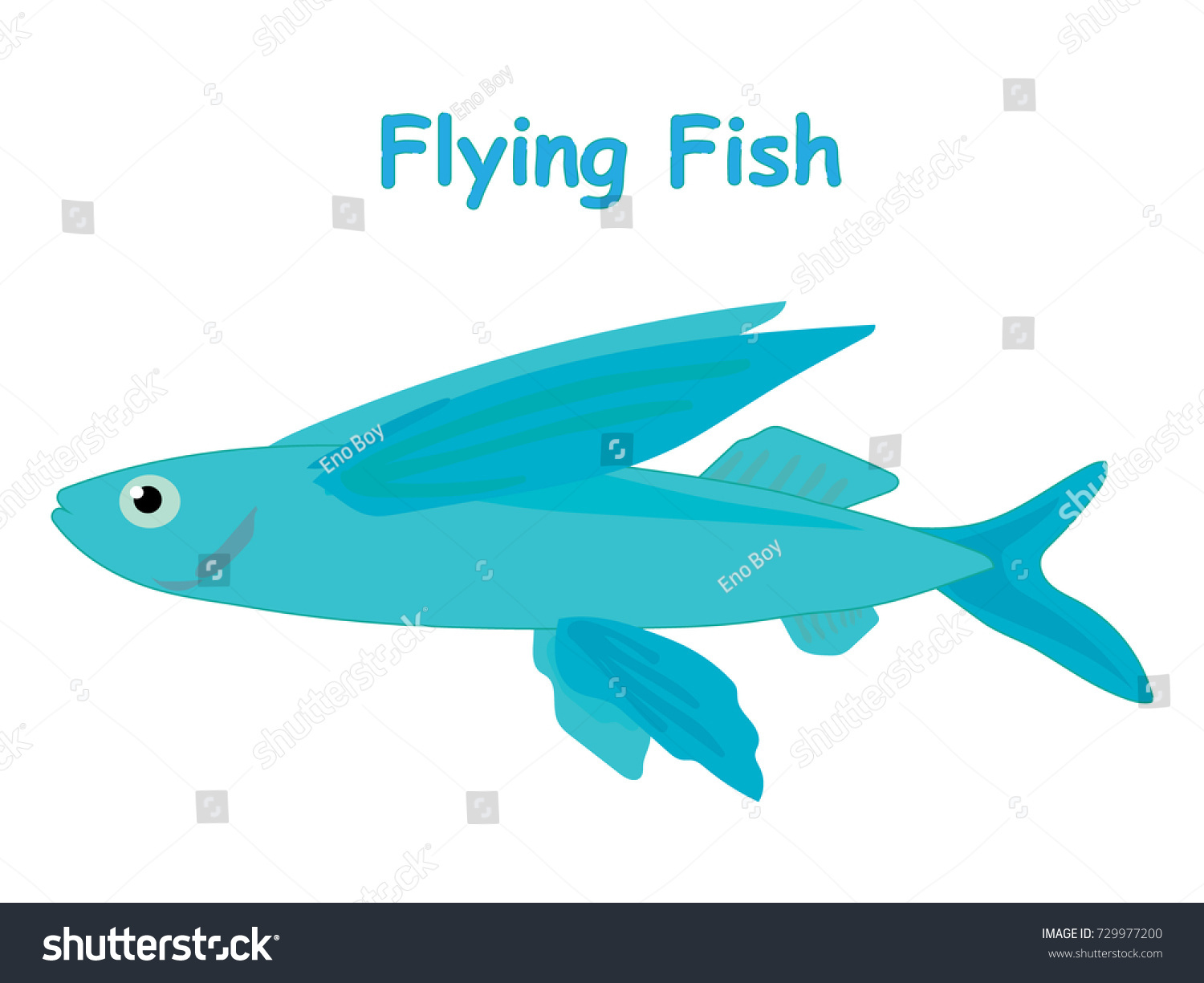 fish vector cartoon illustration t shirt stock vector 729977200