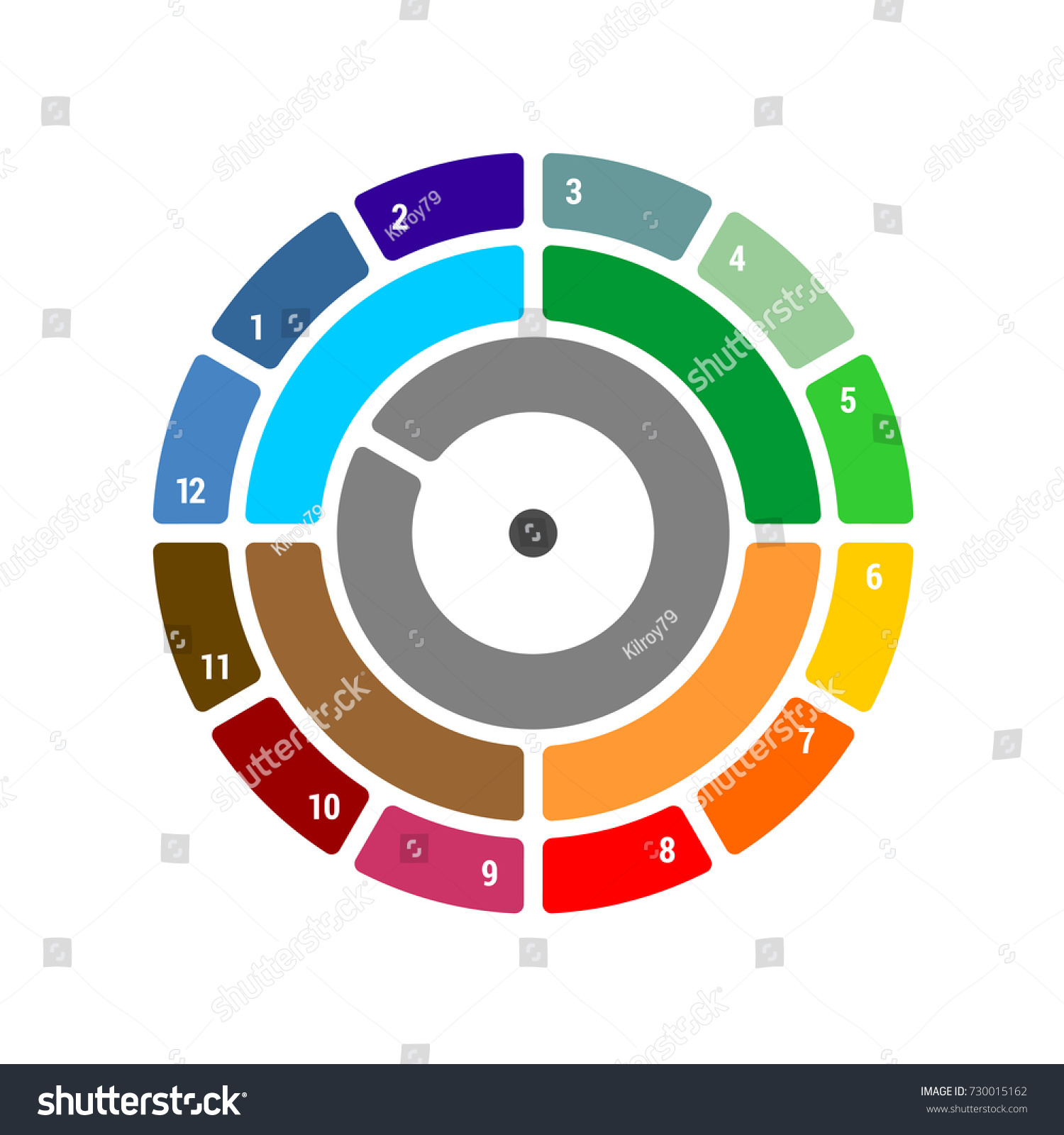 Year round chart quarter months season stock vector 730015162 year round chart with quarter and months season blocks with color difference for infographics nvjuhfo Gallery