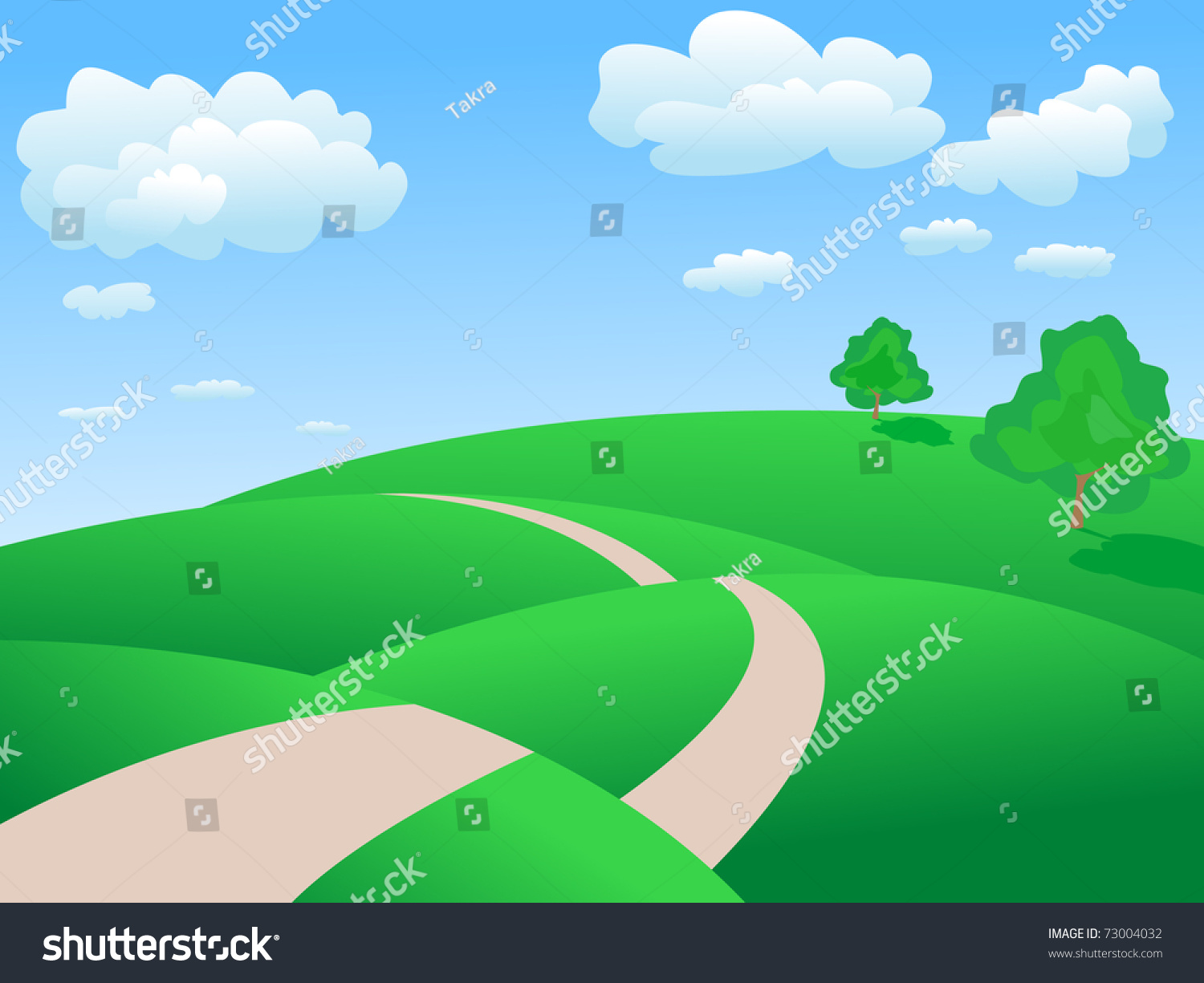 Clipart Images Car Drive Through Valleys