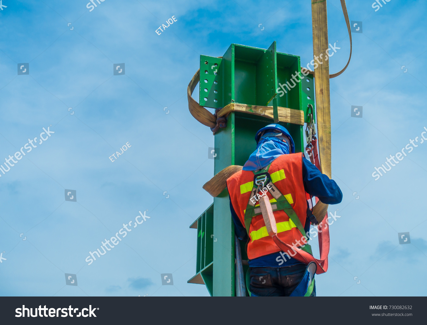 Manpower Installing Steel Structure Support Boiler Stock Photo (Edit ...