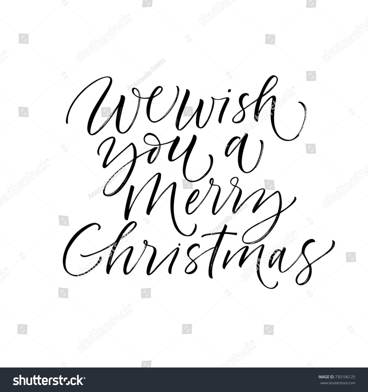 We Wish You Merry Christmas Phrase Stock Vector (Royalty Free ...