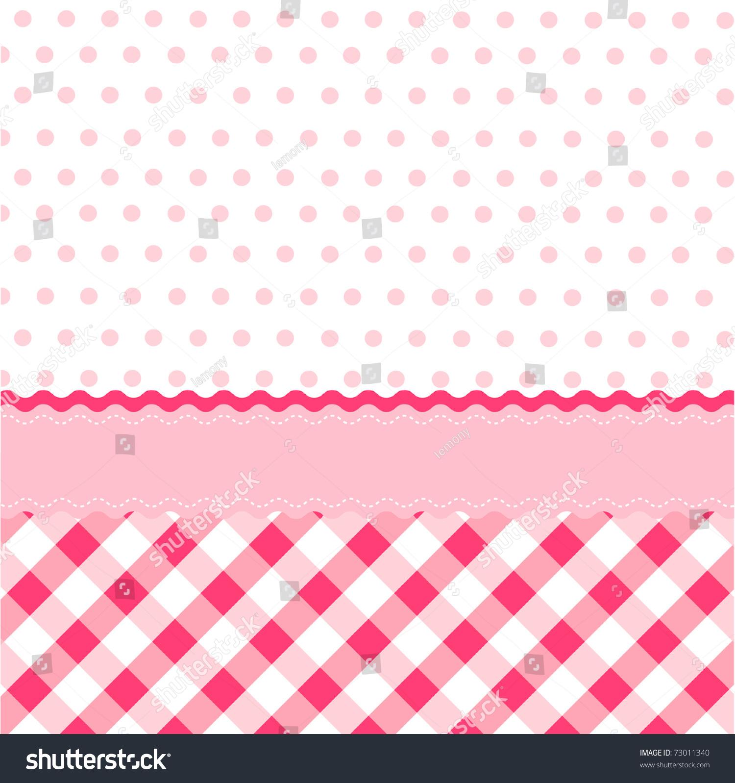 Seamless Baby Girl Pattern Wallpaper Stock Vector 73011340 ...