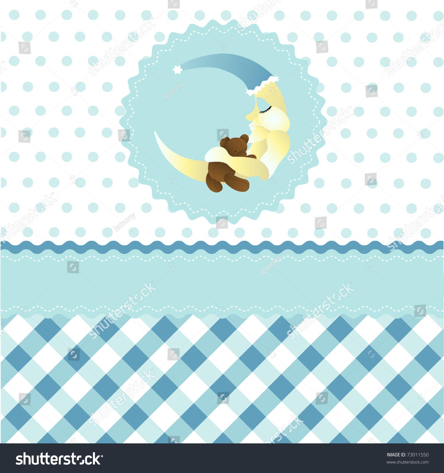 Seamless baby boy pattern blue cartoon moon wallpaper - Cartoon boy wallpaper ...