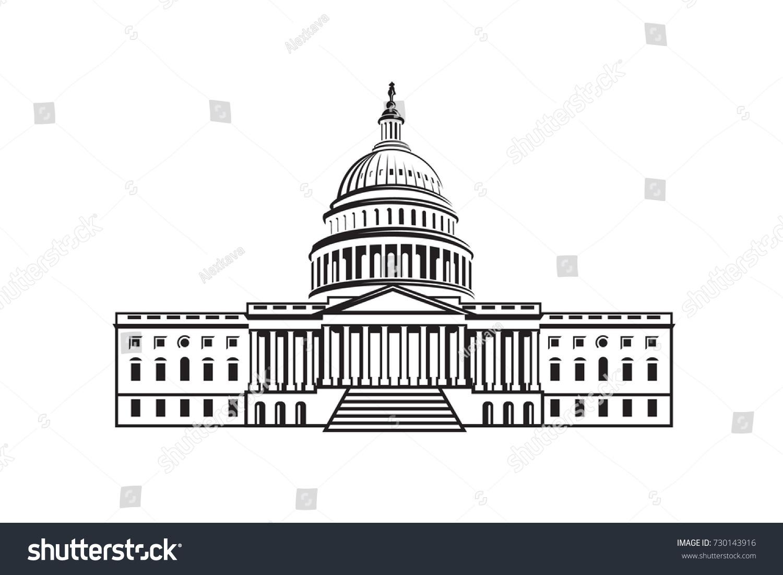 United States Capitol Building Icon Washington Stock ...